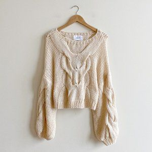 NWT Chicwish Cable Knit Sweater